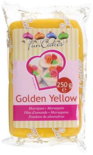 FunCakes Marzapane Giallo Oro  - pacco da 250 grammi