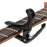 Gitarre Kapodaster , Ubegood Aluminium Elegant Kapodaster Capo Einhändig bedienbar Gitarre Kapo für Gitarre für Akustikgitarre, Konzertgitarre, Westerngitarre, E-Gitarre etc.