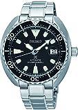 Seiko Herren-Armbanduhr Analog Automatik One Size, schwarz, silberfarben