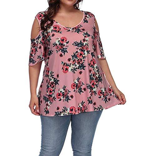 TEFIIR T-Shirt für Frauen, Oktoberfest, Leistungsverhältnis Plus Size Casual O-Ausschnitt Kurzarm Printed Off Shoulder Top Geeignet für Freizeit, Dating, Strandurlaub -