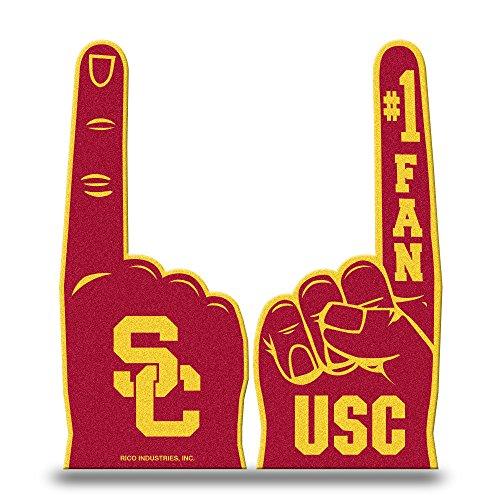 Rico Industries NCAA Southern California Trojans #1 Fan Flat Foam Finger