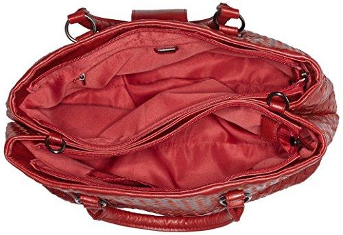 Sansibar Damen Henkeltasche, 17x24x35 cm Rot (Rot (Red))