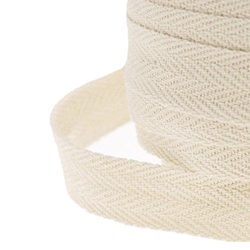 JJPRIME Cinta de costura de algodón, tela de sarga en espiga, 25 mm,