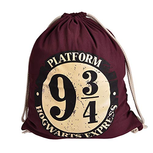 Harry Potter Sportbag 9 3/4 Hogwarts Express Logo 46x36cm Elven Forest Cotton Red