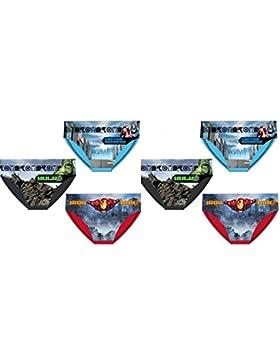 Pack 6 slips niño diseño AVENGERS (Marvel) 3 diferentes modelos tallas 2/3 años, 4/5 años y 6/8 años 100% algodon