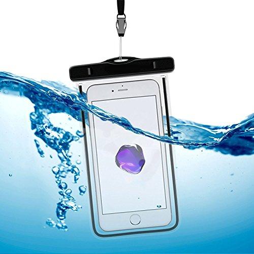 Arktis Wasserdichte Smartphone Schutzhülle Beachbag - Orange Schwarz