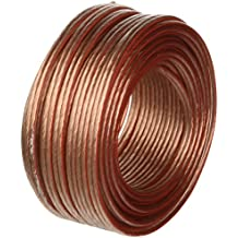 MANAX® - Cable de altavoz (2 x 1,5 mm², transparente, bobina de 20 m)
