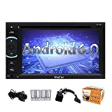 Android 6.0-Autoradio Audio Stereo Quad-Core-Doppel-DIN-6.2 Zoll Multi-Touch-Screen-In Dash Autoradio Unterst¨¹tzungs-GPS-Navigations-DVD-CD-Player SWC USB SD CAM-IN DVR OBD2 1080P Wifi 4G / 3G m