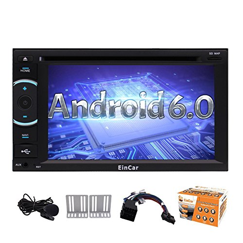 Android 6.0-Autoradio Audio Stereo Quad-Core-Doppel-DIN-6.2 Zoll Multi-Touch-Screen-In Dash Autoradio Unterst¨¹tzungs-GPS-Navigations-DVD-CD-Player SWC USB SD CAM-IN DVR OBD2 1080P Wifi 4G / 3G m (Dvd-player In Dash)