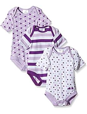 Twins Baby - Mädchen Kurzarm-Body im 3er Pack