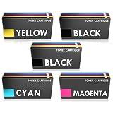 Prestige Cartridge TN-241/TN-245 - Pack de 5 cartuchos de tóner láser para Brother, tricolor y negro