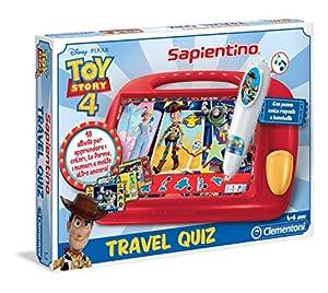 Clementoni - Sapientino Travel Quiz-Disney Toy Story 4, Multicolor, 16233