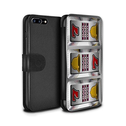 Stuff4 Coque/Etui/Housse Cuir PU Case/Cover pour Apple iPhone 7 Plus / Barres Design / Machine à Sous Collection Barres