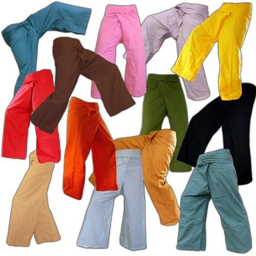 PANASIAM -  Pantaloni  - Taglio largo  - Donna Giallo