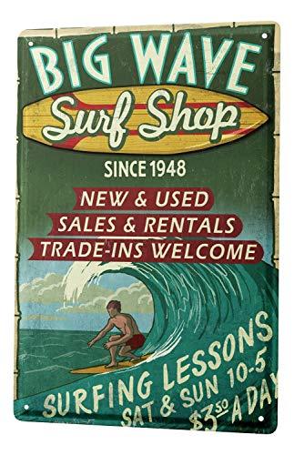 Blechschild Nostalgie Beruf Surf Shop (Surf-kuchen-dekorationen)