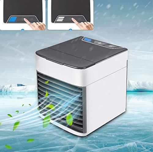 XXL Mini Luftkühler,3 in 1 Air Cooler,3 Lüftergeschwindigkeiten 7 Farben LED-Leuchten USB Personal Space Desktop Air Condition