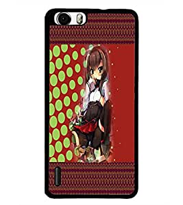 PrintDhaba Sweet Girl D-4086 Back Case Cover for HUAWEI HONOR 6 (Multi-Coloured)