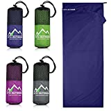 Premium Hüttenschlafsack aus Hightech Mikrofaser mit Kissenfach plus GRATIS E-Book I Reiseschlafsack in 4 Farben und optimaler Größe I Ultraleicht, antibakteriell und atmungsaktiv