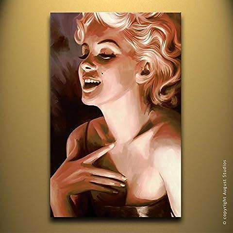 Marilyn Monroe originale Artista firmato Tela pittura poster art # 1, Tela, 30