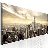 decomonkey | Bilder New York 120x40 cm | 1 Teilig | Leinwandbilder | Bild auf Leinwand | Vlies | Wandbild | Kunstdruck | Wanddeko | Wand | Wohnzimmer | Wanddekoration | Deko | City Stadt Architektur