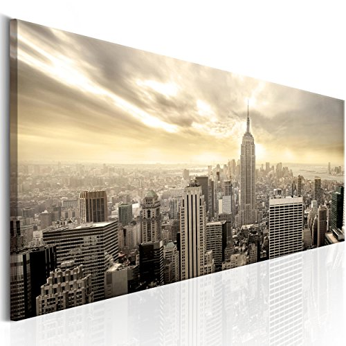 decomonkey | Bilder New York 120x40 cm | 1 Teilig | Leinwandbilder | Vlies Leinwand | Wandbilder | Wand | Bild auf Leinwand | Wandbild | Kunstdruck | Wanddeko | City Stadt Architektur | DKB0104a1PS