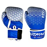 #4: Hitman Fighter Blue Boxing Gloves Size-Large