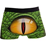 KAIHONG Scary Eye of Reptile Men's Boxer Briefs Soft Personalized Underwear with Covered Waistband