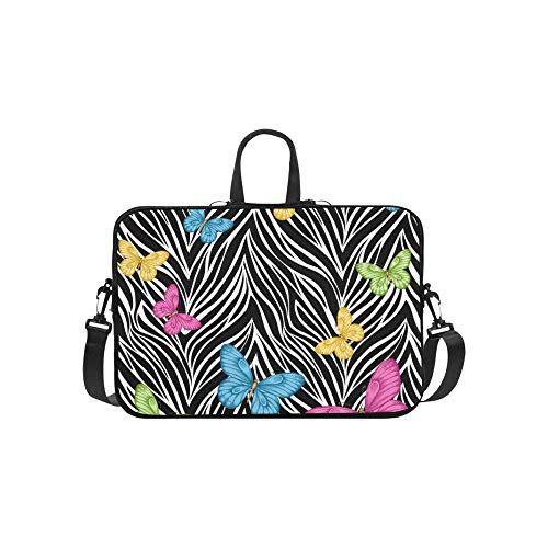 Schöne Schmetterlinge auf Tier Aktentasche Laptoptasche Messenger Schulter Arbeitstasche Crossbody Handtasche für Geschäftsreisen (Chromebook Acer Haut)