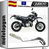 ARROW ESCAPE COMPLETO HOMOLOGADO MINI-THUNDER TITANIO DT 125 R 2006 06 52528SU + 52601SU