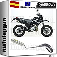 ARROW ESCAPE COMPLETO HOMOLOGADO MINI-THUNDER TITANIO DT 125 R 2006 06 52528SU + 52601SU