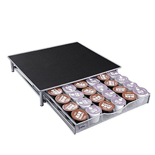 Kealive Kapselständer mit Schublade für 36 Kaffeekapseln für K-CUP, Nespresso, Dolce Gusto und andere Kapseln