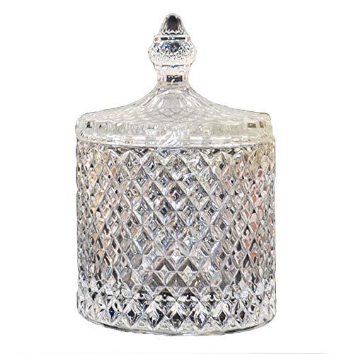 Kristallschale mit Deckel Zuckerdose Bonboniere Bonbonglas Glas Schale Kristall