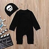 MRULIC 2 Stück Baby Boy oder Mädchen Halloween Strampler Overall und Hut Festival Cosplay(Schwarz,100cm) Test