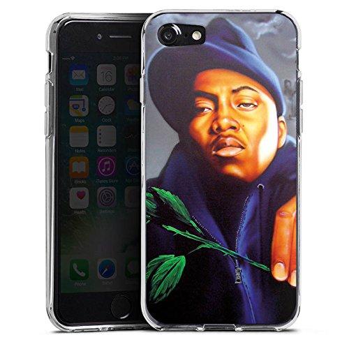 Apple iPhone X Silikon Hülle Case Schutzhülle Nas Rapper Illmatic Silikon Case transparent