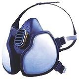 3M série 4000 - Demi-masque de protection réutilisable 3M 4255 - Filtres intégrés...