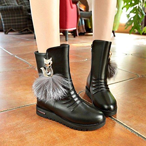 Zip, Chelsea Boots Femme, Noir (Black 10), 39 EUBianco