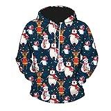 GreatestPAK Damen Herren Kapuzenpullover Weihnachten 3D-Digitaldruck Pullover Sweatshirts