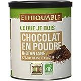 Ethiquable Cacao en Poudre Instantané Equateur/Haïti Bio et Équitable 400 g Producteurs Paysans - Lot de 3