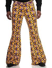 Bunte 70er Schlaghose Star Waves Violett