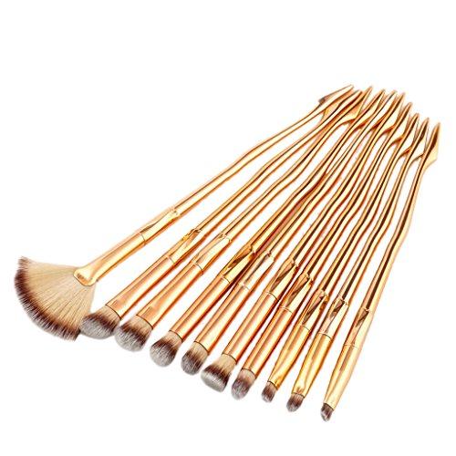 Gazechimp Make Up Pinsel Set 10 tlg. Sexy-Leg-Design Kosmetikpinsel Lidschatten Augenbraue Foundation Brush Puderpinsel Fan Makeup Brush Für Damen Mädchen - Rosegold