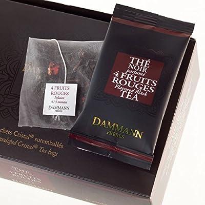 Thé noir 4 fruits rouges-DAMMANN FRÈRES de 24 Sachets thé cristaux France teabags (Fra) black