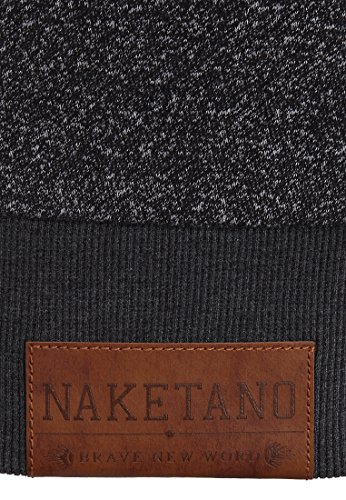 Naketano Male Hoody Nadorianer III Pablo Powder Black Melange