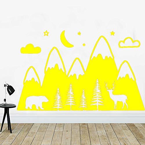 Biskuit-rahmen (Beauty Wapiti Mountain Wandaufkleber Selbstklebendes Vinyl Wasserdichte Wandtattoos Haus Dekoration Tapete Adesivo De Parede gelb 43 cm X 68 cm)