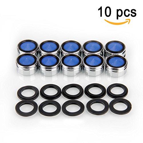 Migimi Strahlregler, 10 Stück Luftsprudler m24 Wasserhahn Sieb Einsatz, Mischdüse mit ABS-Filter - Premium Perlator mit Außengewinde
