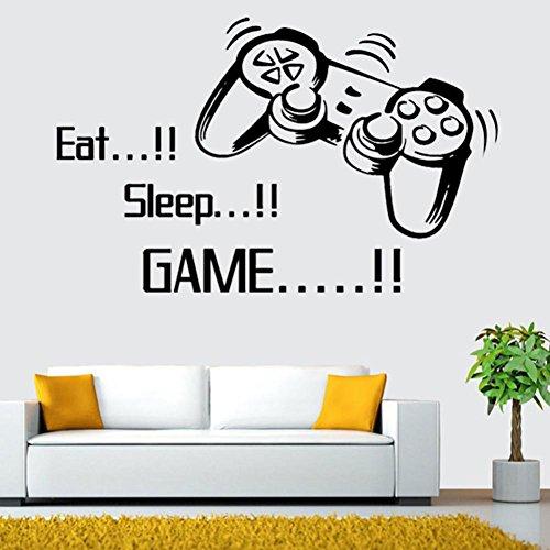 Bovake Essen Sie Schlaf-Spiel-Wand-Aufkleber Jungen-Schlafzimmer Brief DIY Kind-Raum-Dekoration Wandaufkleber Kunst-Ausgangsdekor-Wand-Wandaufkleber
