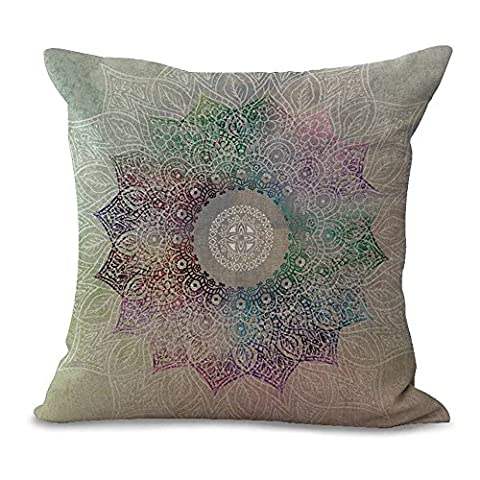 Battar–Simple Flower Print Hand Painted Fresh Flower Mandala Cotton Decorative