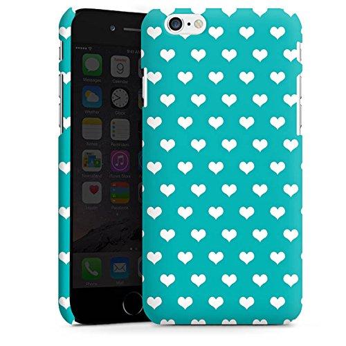 Apple iPhone X Silikon Hülle Case Schutzhülle Herzchen Türkis Muster Premium Case matt