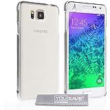 Yousave Accessories Hartschale für Samsung Galaxy Alpha-Crystal Clear