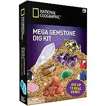 National Geographic Mega Gemstone Mine – Déterrez jusqu'à 15pierres précieuses véritables