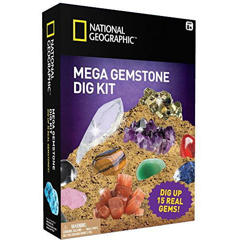 Mega Gemstone Mine - Dig Up 15 Gemas Reales con Gemas Naturales